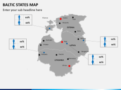 Baltic states map PPT slide 14