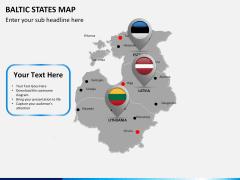 Baltic states map PPT slide 15