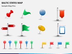 Baltic states map PPT slide 18