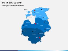 Baltic states map PPT slide 2