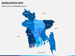 Bangladesh map PPT slide 1