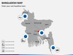 Bangladesh map PPT slide 10