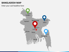 Bangladesh map PPT slide 11