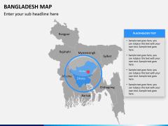 Bangladesh map PPT slide 12