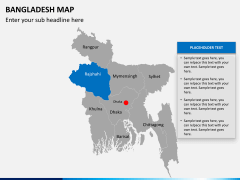 Bangladesh map PPT slide 13