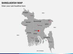 Bangladesh map PPT slide 2