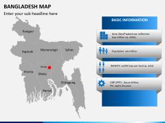 Bangladesh map PPT slide 3