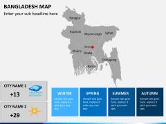 Bangladesh map PPT slide 4