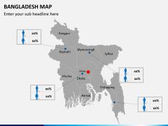 Bangladesh map PPT slide 5