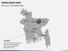 Bangladesh map PPT slide 6
