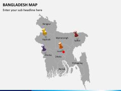 Bangladesh map PPT slide 8