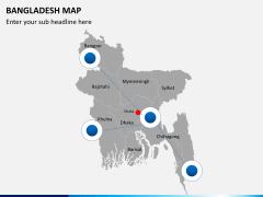 Bangladesh map PPT slide 9