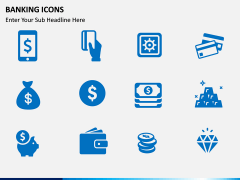Banking Icons PPT slide 1