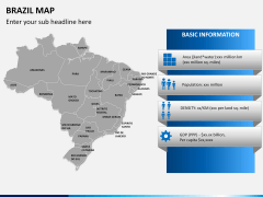 Brazil map PPT slide 17