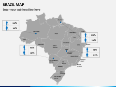 Brazil map PPT slide 18
