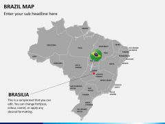 Brazil map PPT slide 19