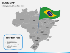 Brazil map PPT slide 20