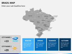 Brazil map PPT slide 21