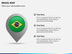 Brazil map PPT slide 22