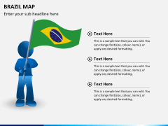 Brazil map PPT slide 23