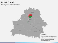 Belarus map PPT slide 14