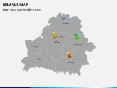 Belarus map PPT slide 4
