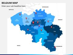 Belgium map PPT slide 1