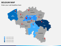 Belgium map PPT slide 10