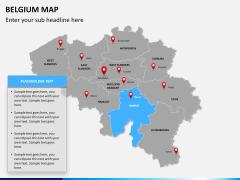 Belgium map PPT slide 11