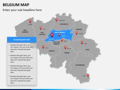 Belgium map PPT slide 12