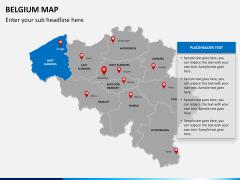 Belgium map PPT slide 13
