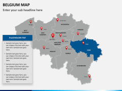 Belgium map PPT slide 14