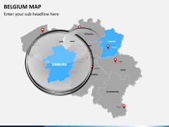 Belgium map PPT slide 15