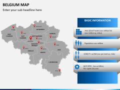 Belgium map PPT slide 17