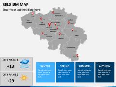 Belgium map PPT slide 18