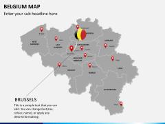 Belgium map PPT slide 20