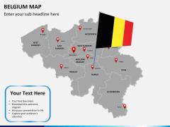 Belgium map PPT slide 21