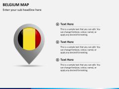 Belgium map PPT slide 22