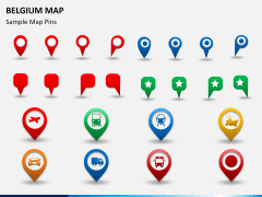 Belgium map PPT slide 24