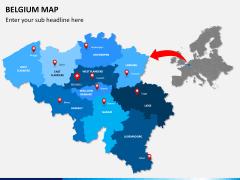 Belgium map PPT slide 3