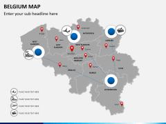 Belgium map PPT slide 7