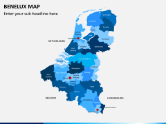 Benelux map PPT slide 1