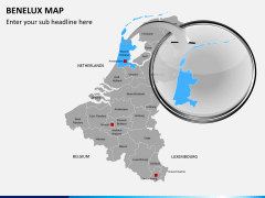 Benelux map PPT slide 15