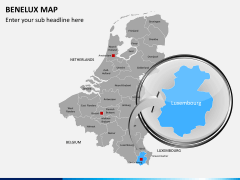 Benelux map PPT slide 17