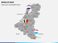 Benelux map PPT slide 3