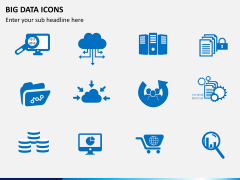 Big data icons PPT slide 1