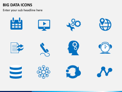 Big data icons PPT slide 2