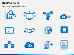 Big data icons PPT slide 3