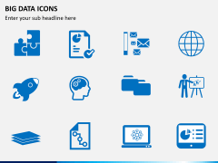 Big data icons PPT slide 4