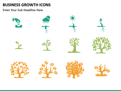 Business Growth Icons PPT slide 9
